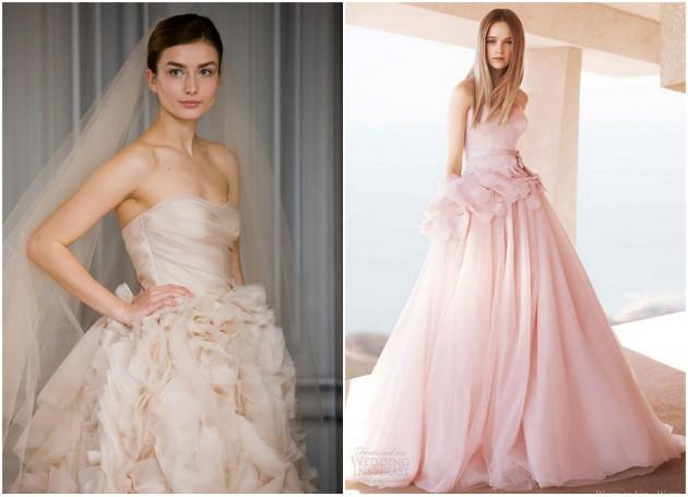 Бледо розови сватбени рокли сватбена агенция Инанна